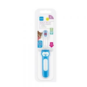 Escova de Dente de Cabo Curto First Brush Boys 6m+ MAM -008113