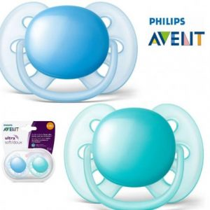 Chupeta Ultra Soft Lisa 6-18m Double Pack SCF212/22 Azul/Verde – Philips Avent